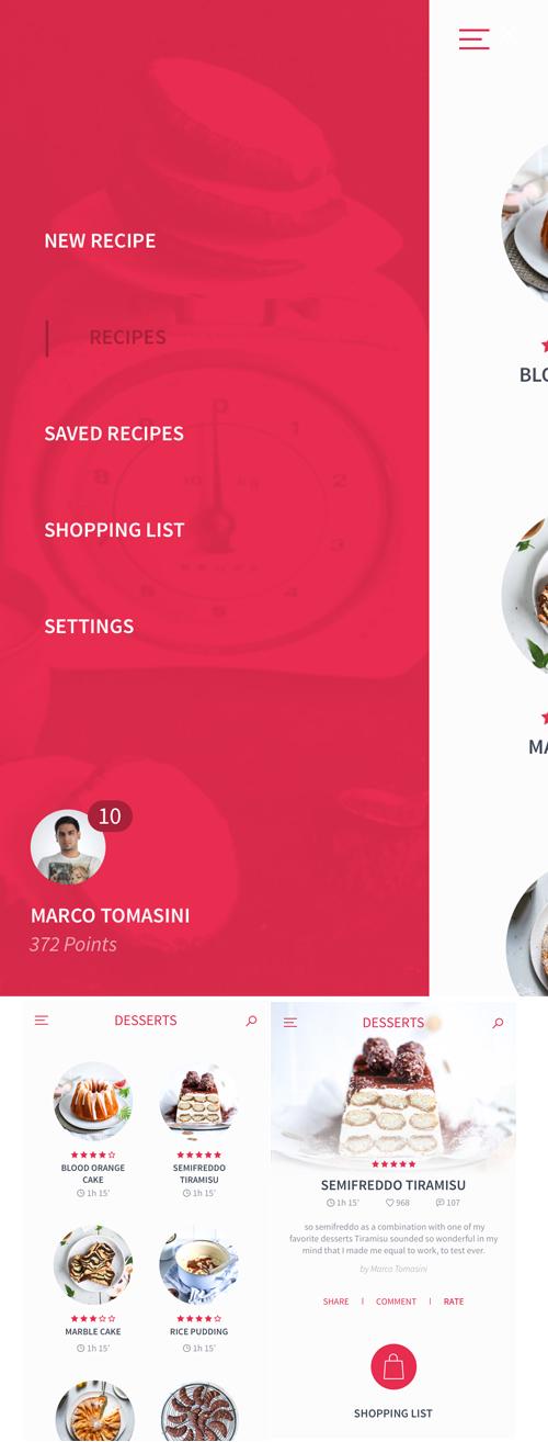 Free Food, Recipes App UI Kit