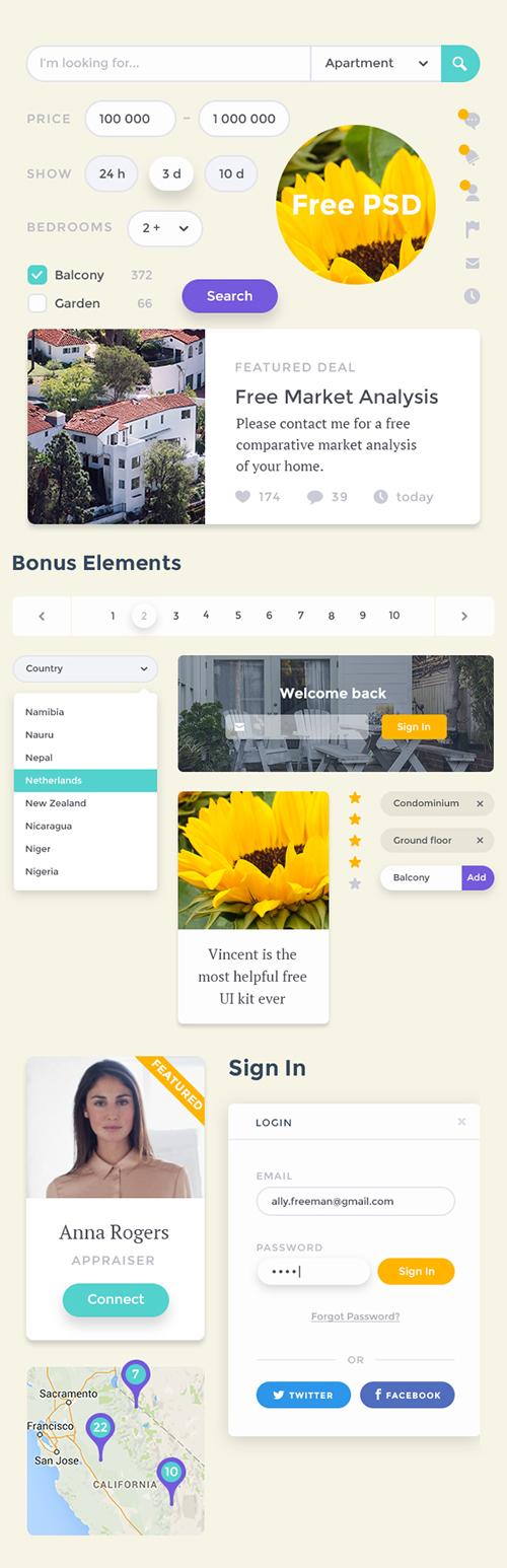 Vincent - Free Web UI Kit