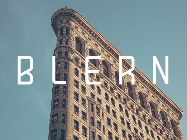 Blern free fonts