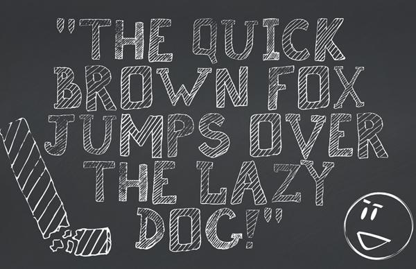 Broken Chalk Font Letters