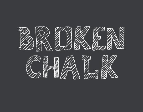 Broken Chalk Free Font