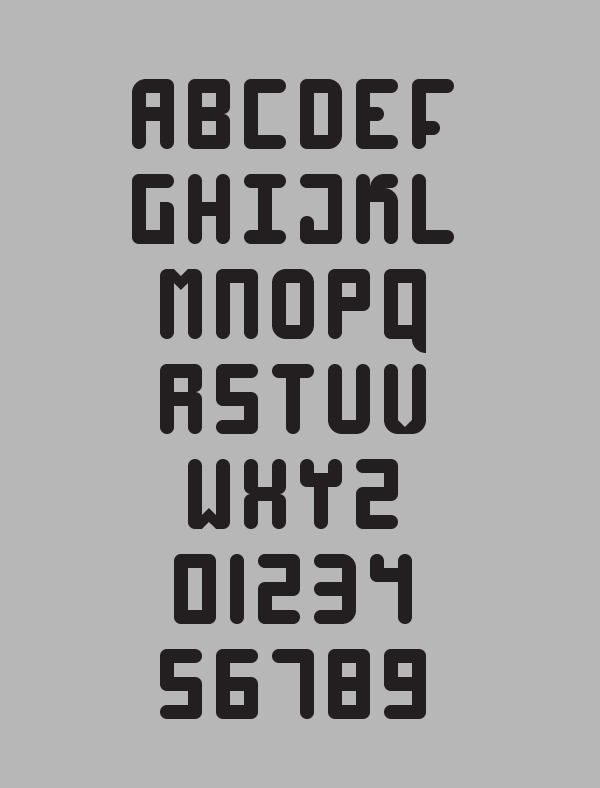 High 4 Font Letters