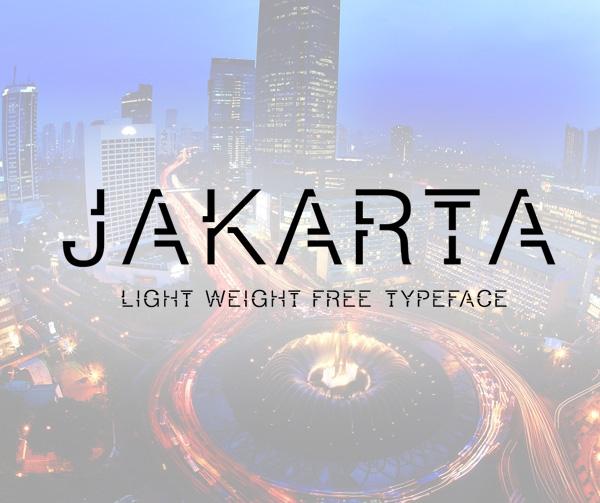 Jakarta free fonts