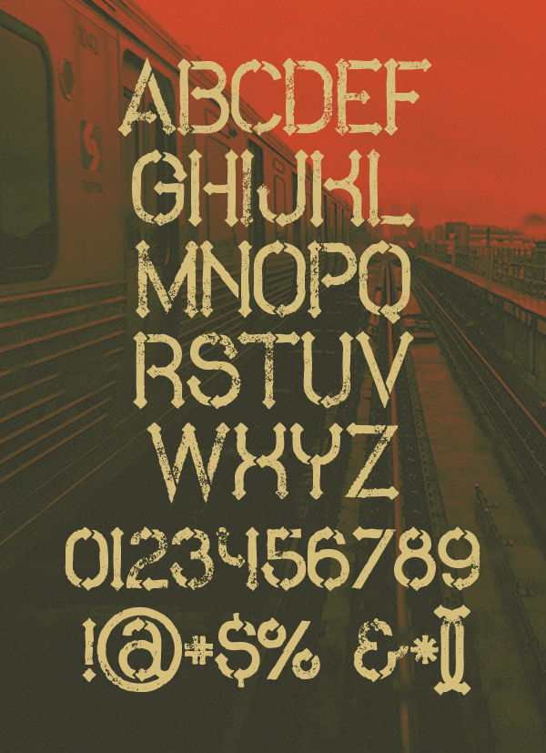 Metro Grunge Font Letters