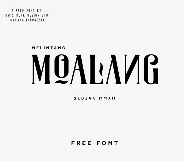 Moalang Free Hipster Fonts