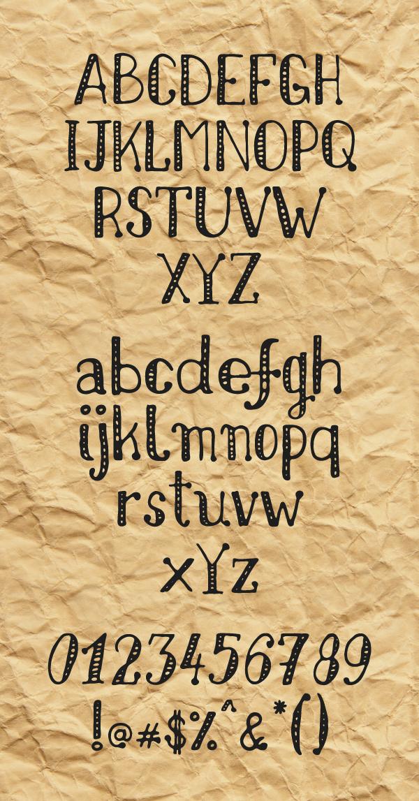 Nikolaidis Hand Font Letters