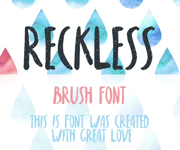 Reckless Free Font