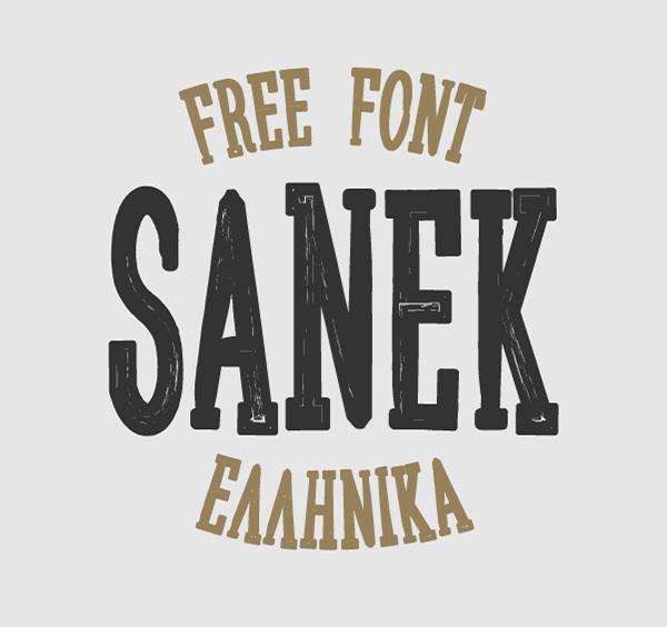 Sanek free fonts
