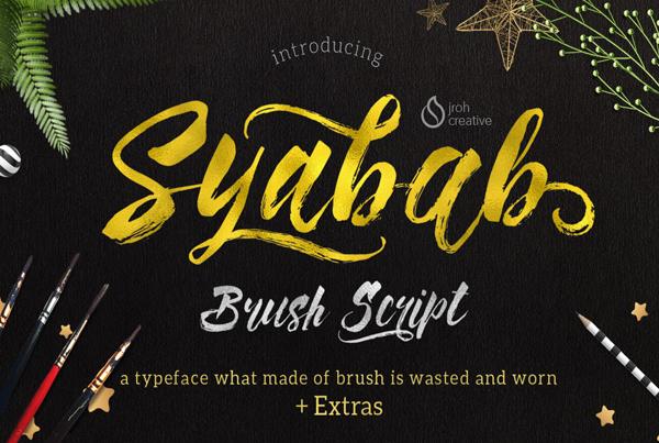 Syabab Brush Script Free Font