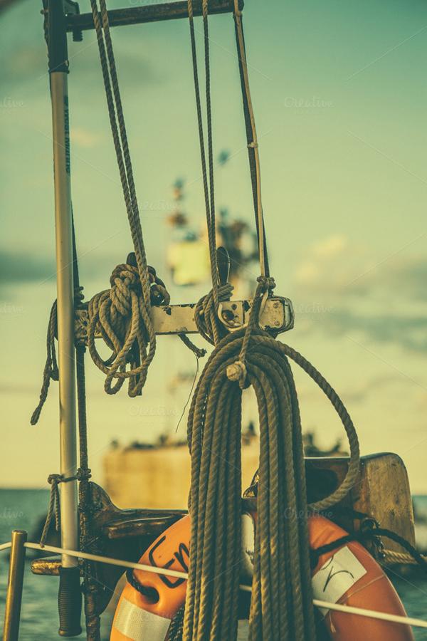 Sailing Rope Abstract Photo