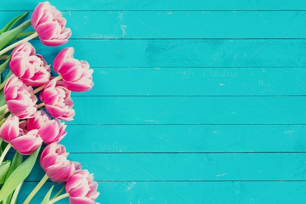 Peony tulips vintage background