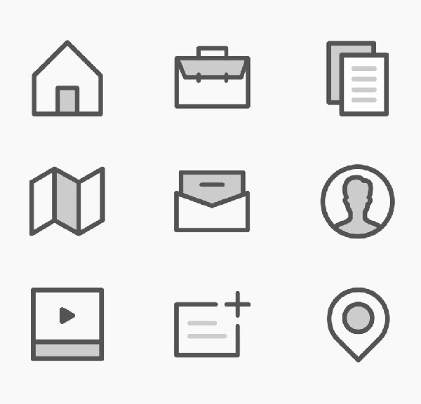 Free Misc Outlined Icons (9 Icons)