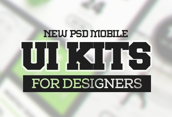 16 New Free PSD Mobile UI Kits for Designers