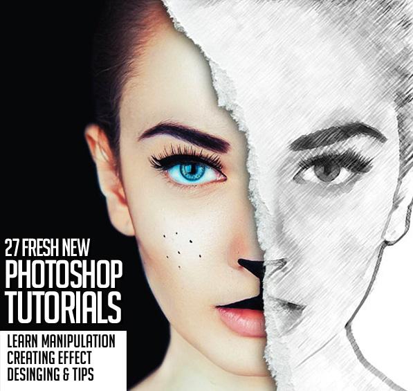 27 Fresh New Photoshop Tutorials to Improve Your Designing Skills