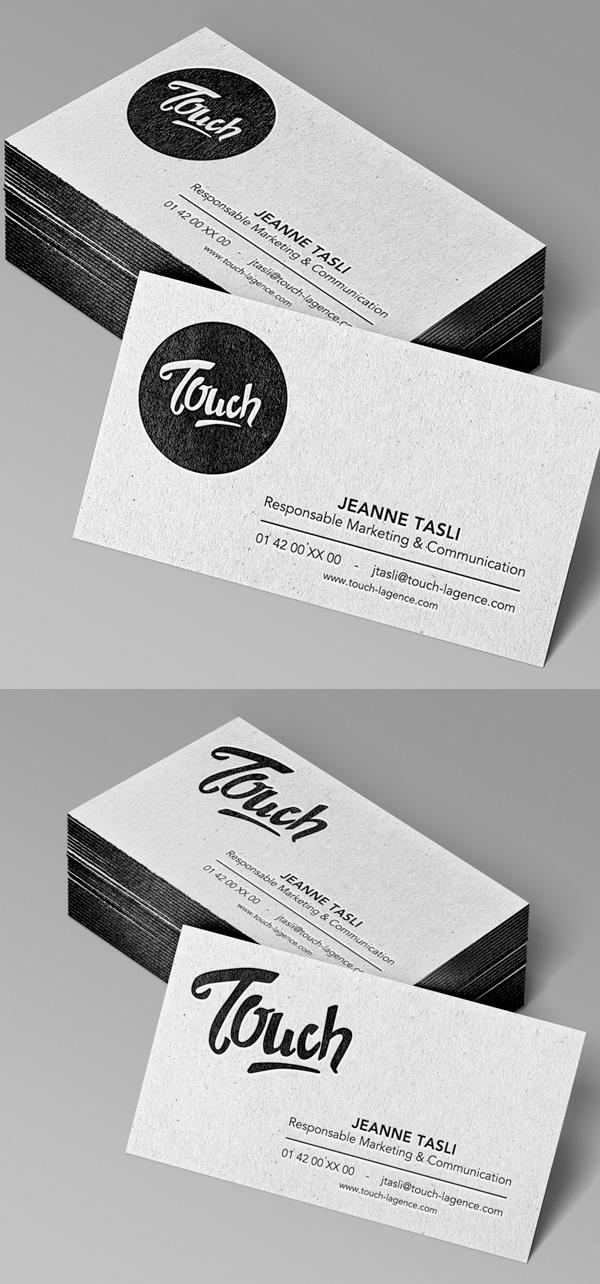 Beautiful Letterpress Business Card Design