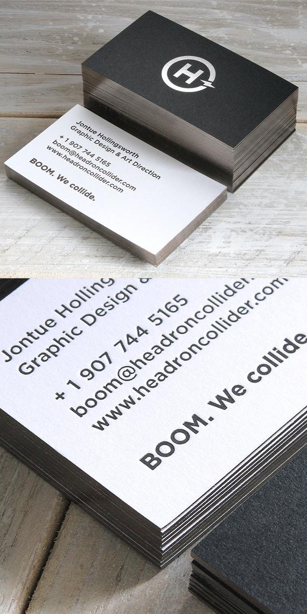 Headron Collider Branding and Letterpress Business Card