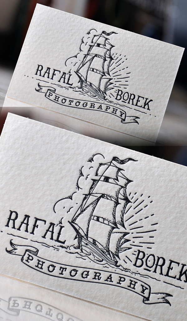 Creative Letterpress Photography Business Card