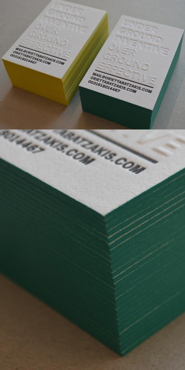 Letterpress Business Card for Personal Branding