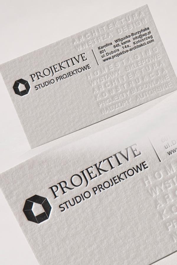 Projektive Letterpress Business Card