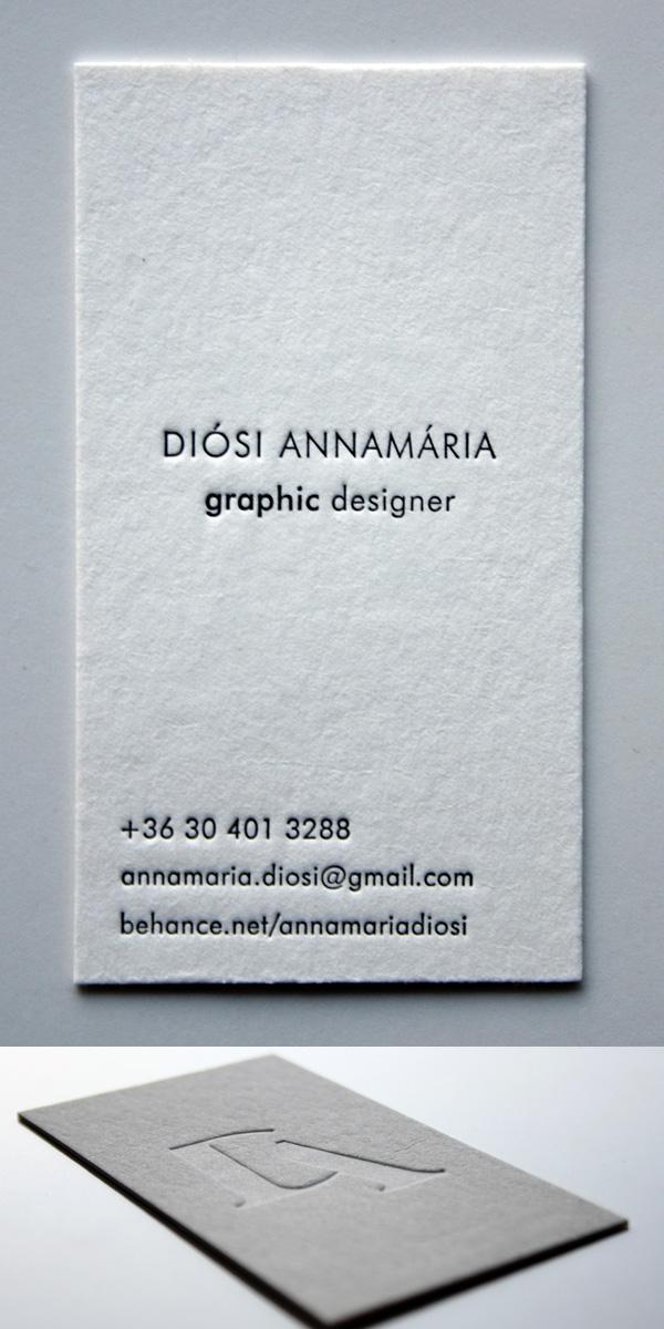 Minimal Letterpress Business Card