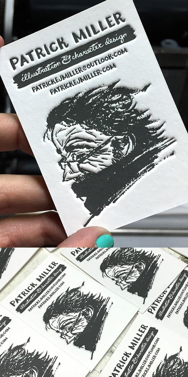 Letterpress Business Cards for Patrick Miller
