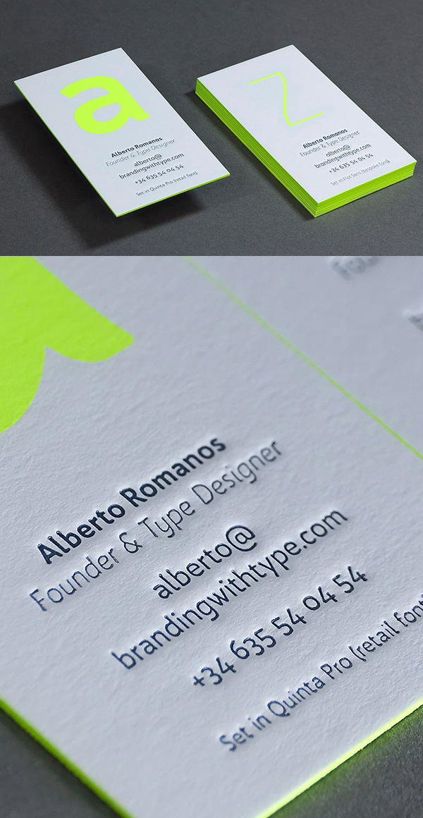 Clearn Letterpress Business Cards