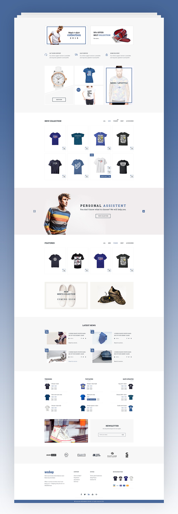 Creative Multipurpose E-commerce PSD Template