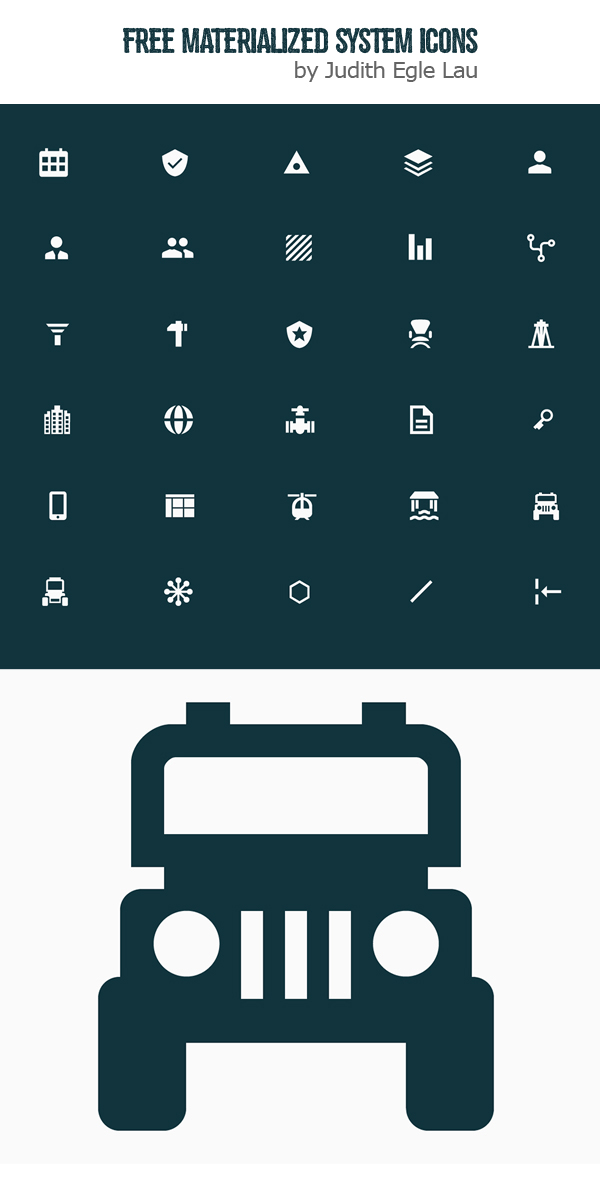 Free Materialized System Icons (30 Icons)