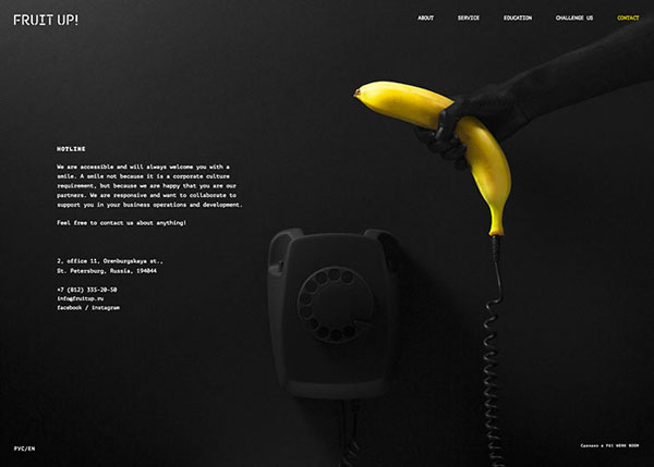 One Page Websites - 50 Fresh Web Examples - 11