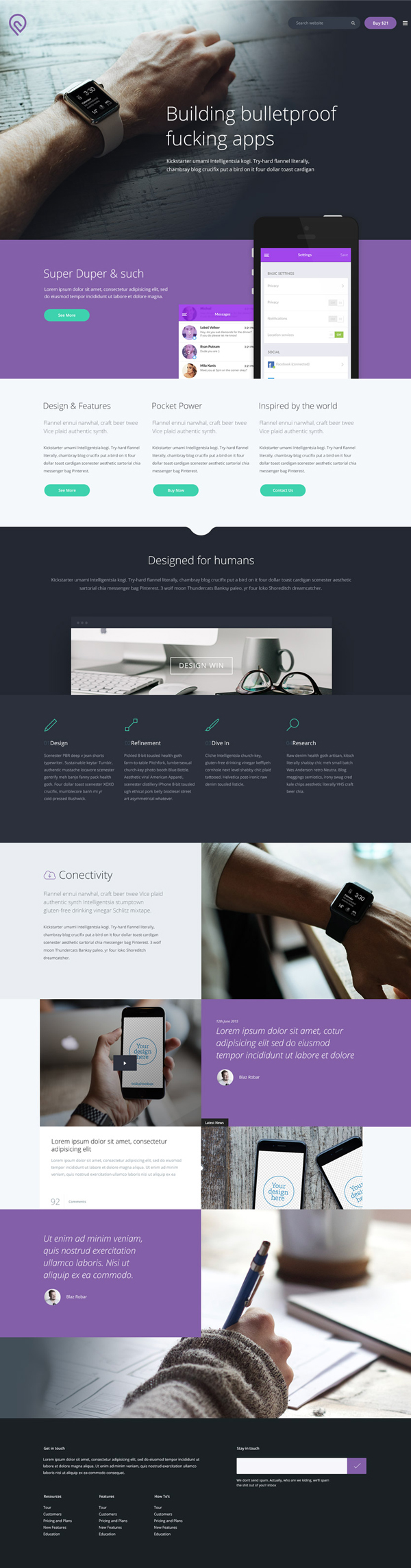 Free Business Website Template PSD