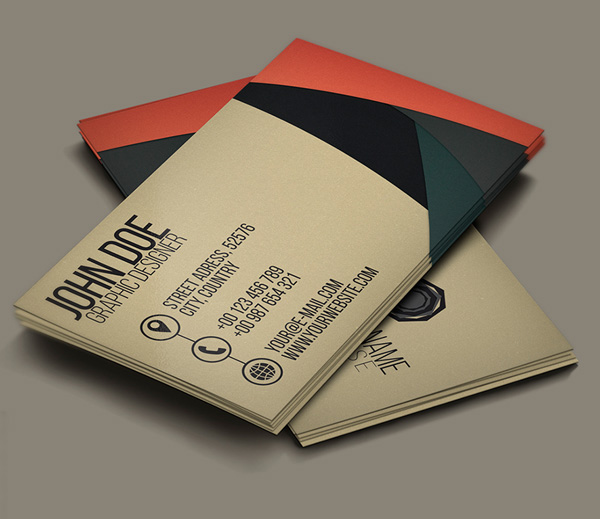 Free Creative Business Card PSD Template