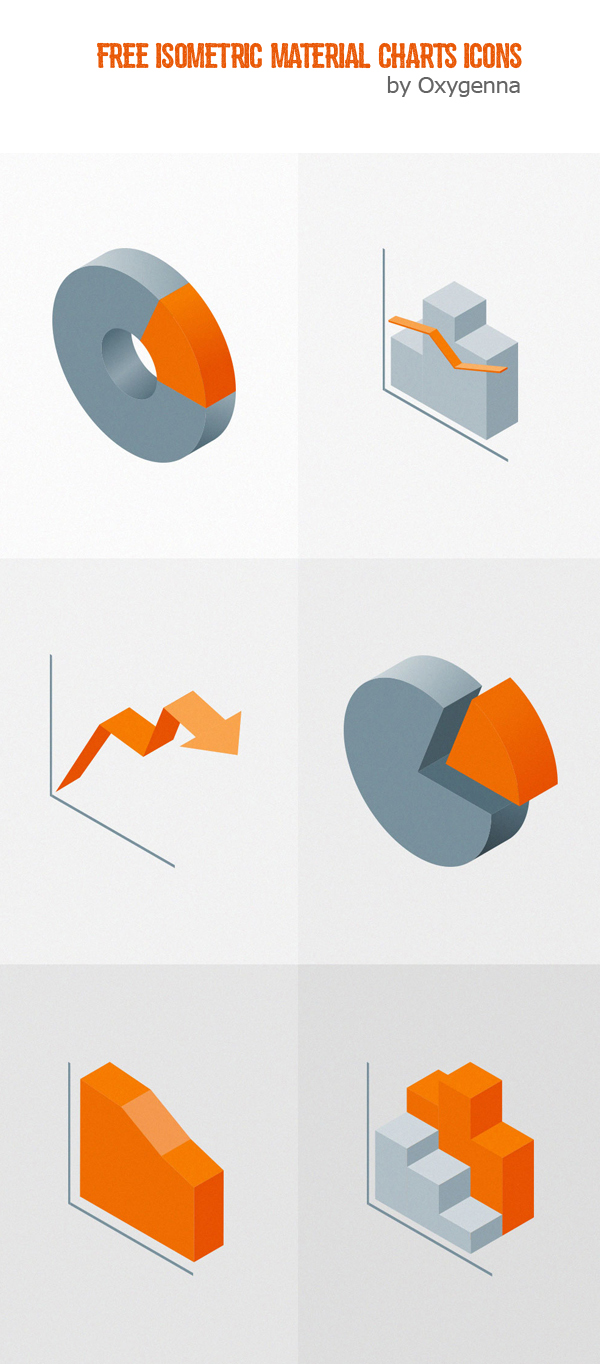 Free Isometric Material Charts Icons (6 Icons)