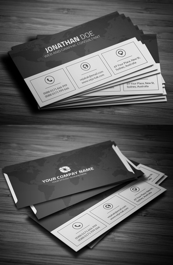 Free Clean Corporate Business Card