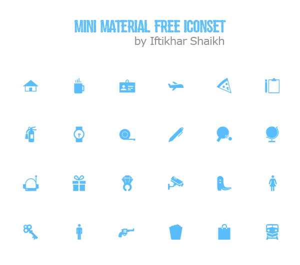 Free Mini Material Icons Set (24 Icons)