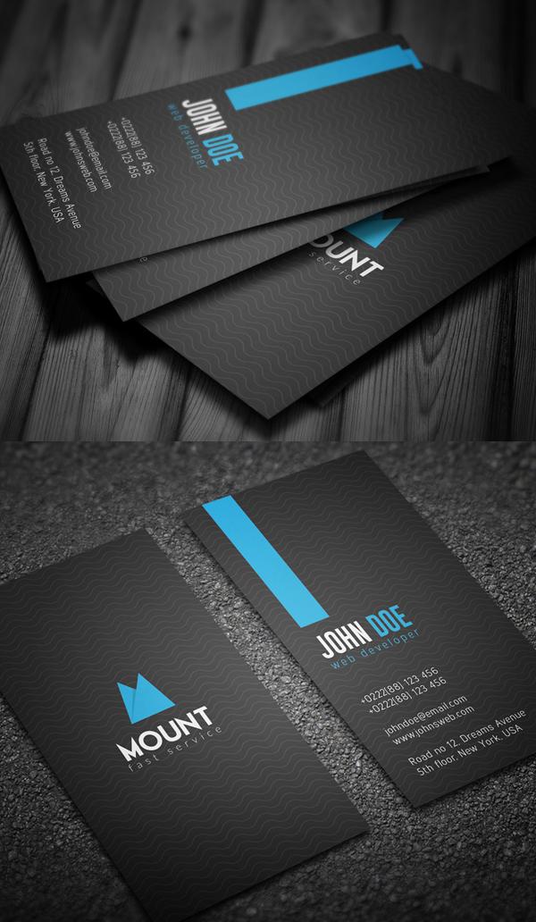 Creative Vertical Business Card