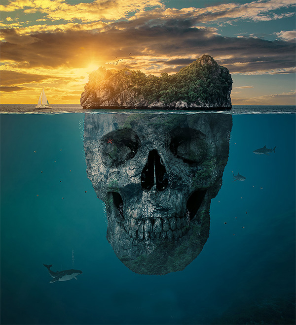 Create a Mysterious Skull Manipulation Island in Photoshop CC