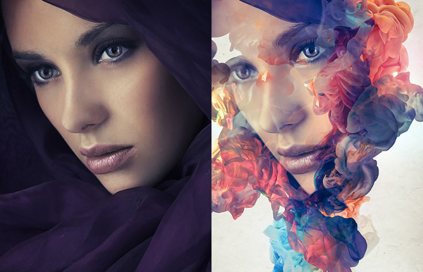 Create an Abstract Ink Portrait Manipulation Effect in Photoshop Tutorial