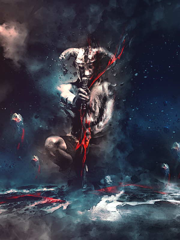 Create Warrior Drawing Dark Energy From Surrounding Elements Scene Best Photo Manipulation In Photoshop