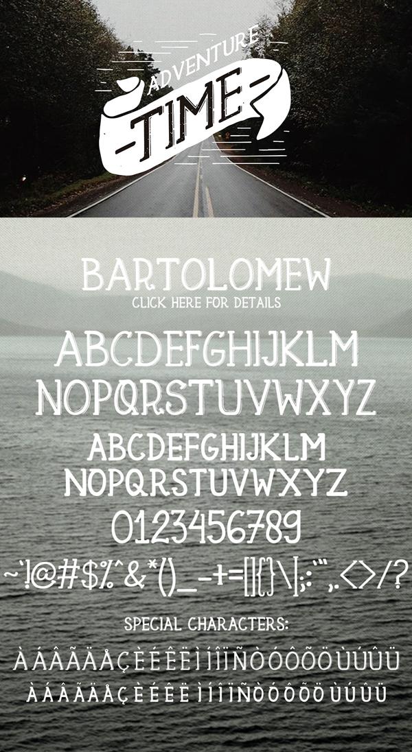 Bartolomew fonts and letters