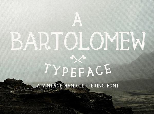 Bartolomew free fonts