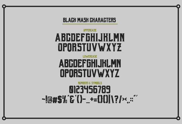 Black Mask Free Hipster Fonts and Letters