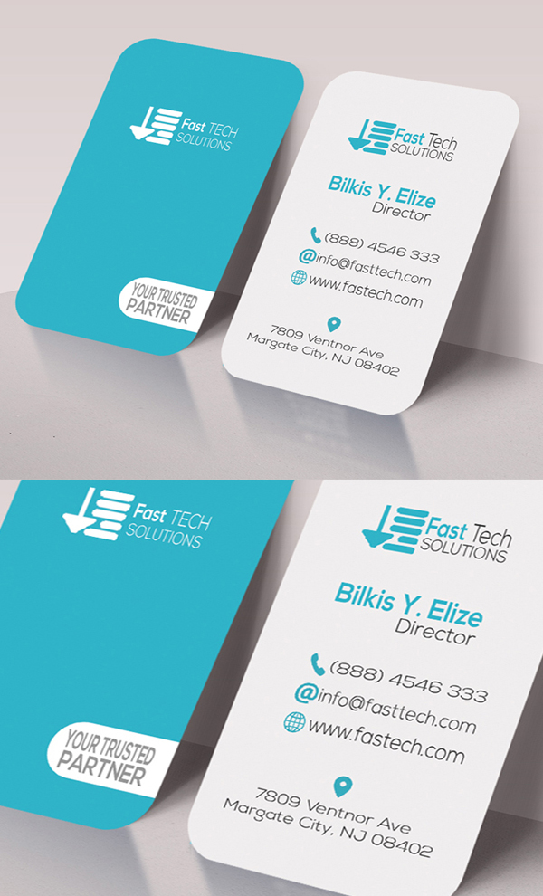 Fast Tech Round Business Card
