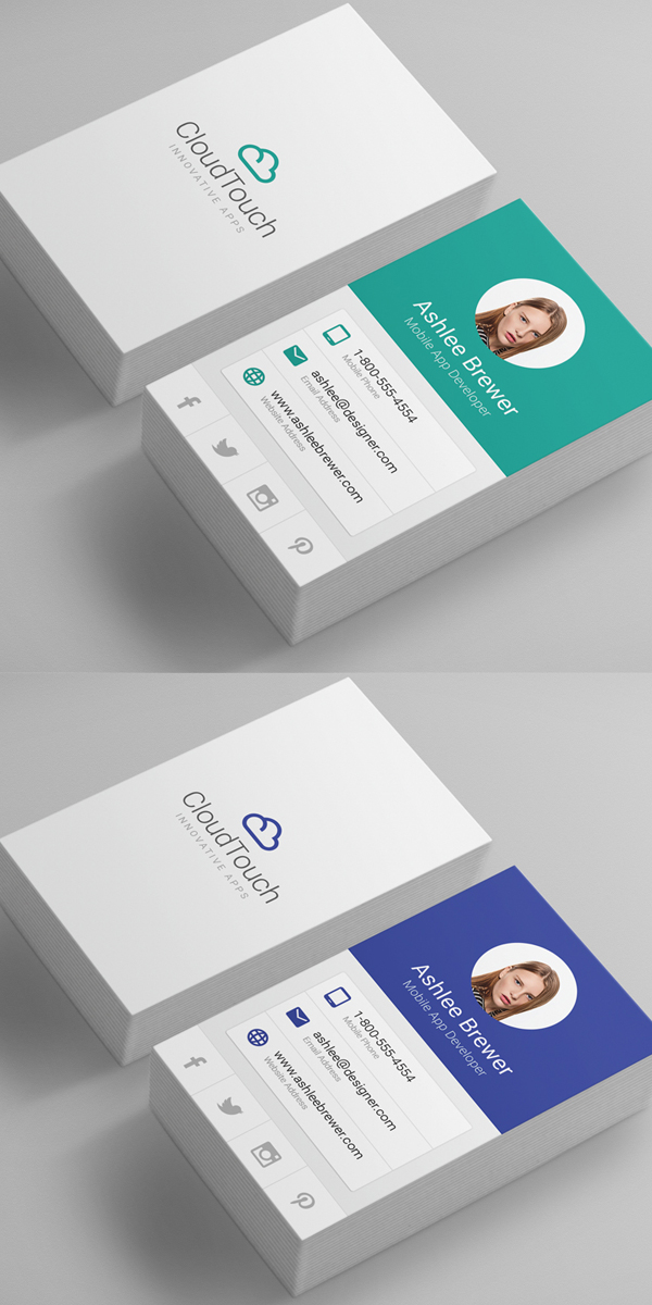 Material Design Business Cards