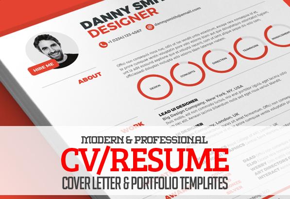 13 Modern CV/Resume Templates + Cover Letter & Portfolio Page