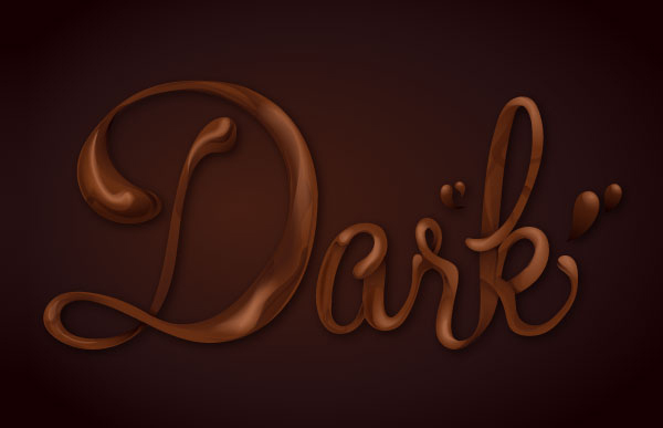 How Sweet! Chocolate Text Vector Effect Tutorial