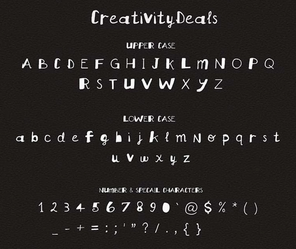 Creativity Free Hipster Fonts and Letters