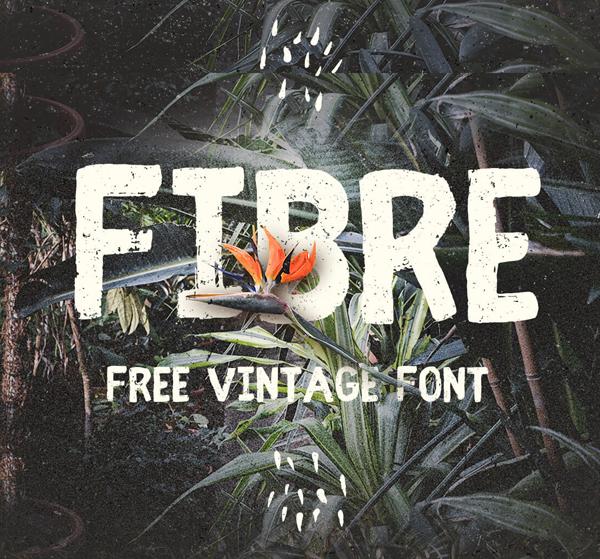 Fibre (Vintage) free fonts