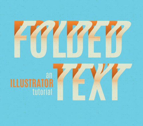 How to create a folded text effect in Illustrator