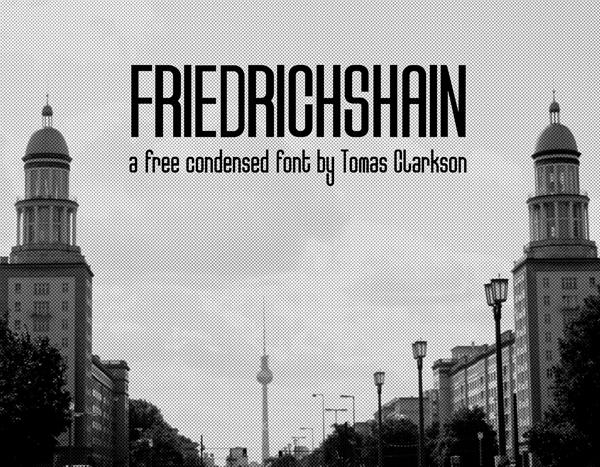 Friedrichshain free fonts