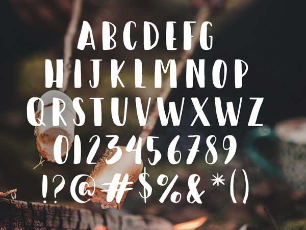 Happy Camper Free Hipster Fonts and Letters